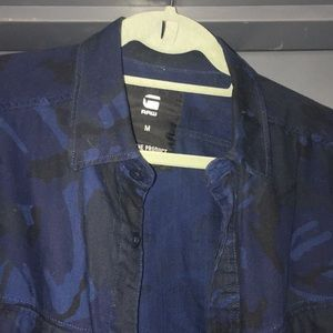 G - Star Raw - M Blue Camouflage w/ Cool Details